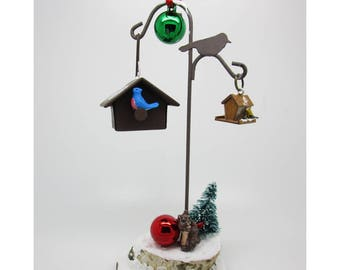 Winter Bird Feeding with Holiday Touch Ornament