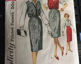 Vintage 60s Simplicity 3122 Separates Pattern-Size 14 (34-26-36)
