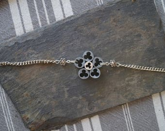 Grey cable bracelet