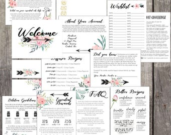14 File Printable New Member Kits, YL Welcome Kits Printable, New Member Kits, New Member Oil Resources, Young Living, Oil Accessories