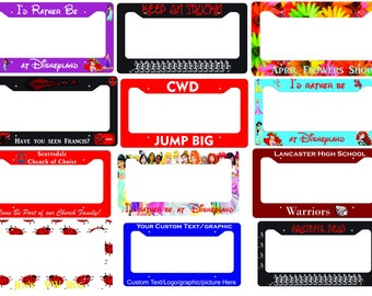 Custom License Plate Frame Personalized Text/Picture/Graphic
