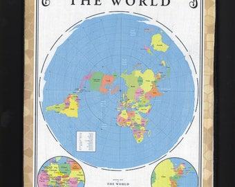 Flat earth map Etsy