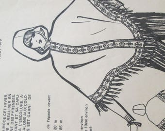 the poncho pattern catalog Marie - Claire of 1975