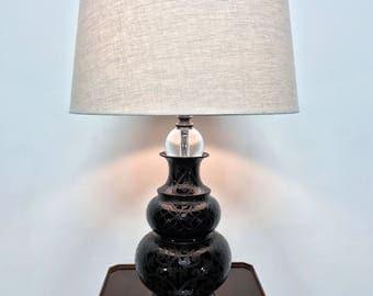MAITLAND SMITH Contemporary Ceramic & Lucite Lamp