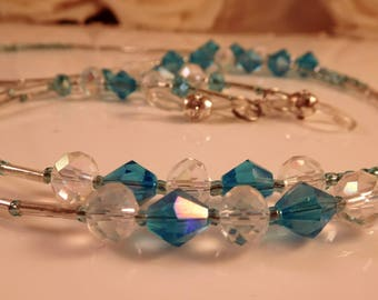 Glasses chain, Spectacle holder. crystal lanyard