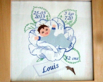 Frame baby boy embroidery machine