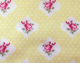SALE! 3+ YARDS Tanya Whelan Grand Revival Darla Rosie Dot Yellow