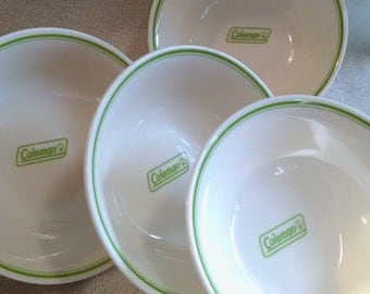 Lot Of Coleman Plastic Camping Bowls