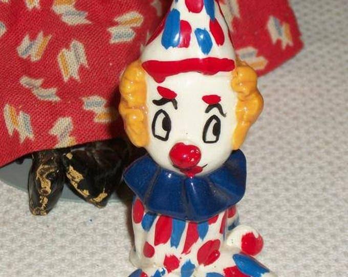 Vintage Handmade Art Glass Clown Figure Figurine Hand Blown Paperweight