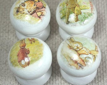 Flopsy Bunny Knobs, Drawer Handles, Dresser Knobs, Beatrix Potter, 3.5cm Dia