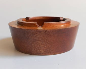 Wood ashtray, Wooden ashtray, Hand turned ashtray, cigarette ashtray, wood cigarette ashtray