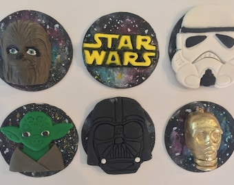 12 Star Wars inspired cupcake  Topper