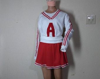 revenge of nerds kids adult sweatshirt skirt red cheerleader uniform football game halloween costume