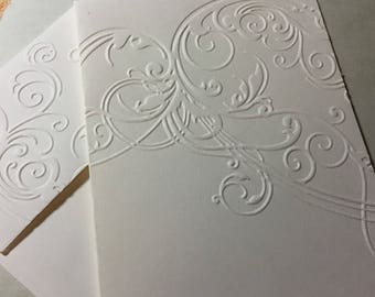 Scroll Cards~Embossed Scroll Note Cards~Embossed Scroll Cards~Scroll Gift Tags~Note Cards~Tags~Scroll~Wedding Cards~Anniversary~Thank You