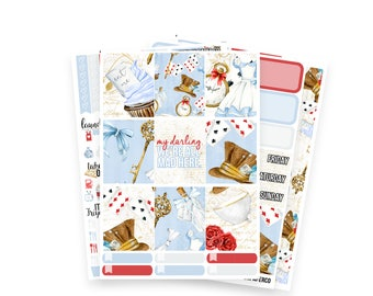 Alice White-Space Weekly Kit - Planner Stickers