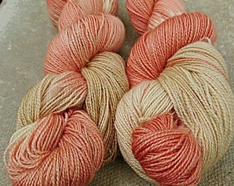 Fabulous Fairy Toadstool, hand dyed BFL high twist fingering yarn