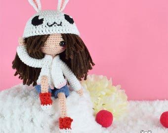 Amigurumi doll, custom doll, crochet doll, handmade doll, stuffed doll, personalized doll, ooak doll, crochet girl doll, art doll, doll