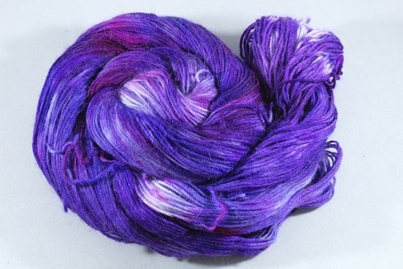 Hand Dyed Alpaca/Merino/Nylon Sock Yarn - Violet Velvet