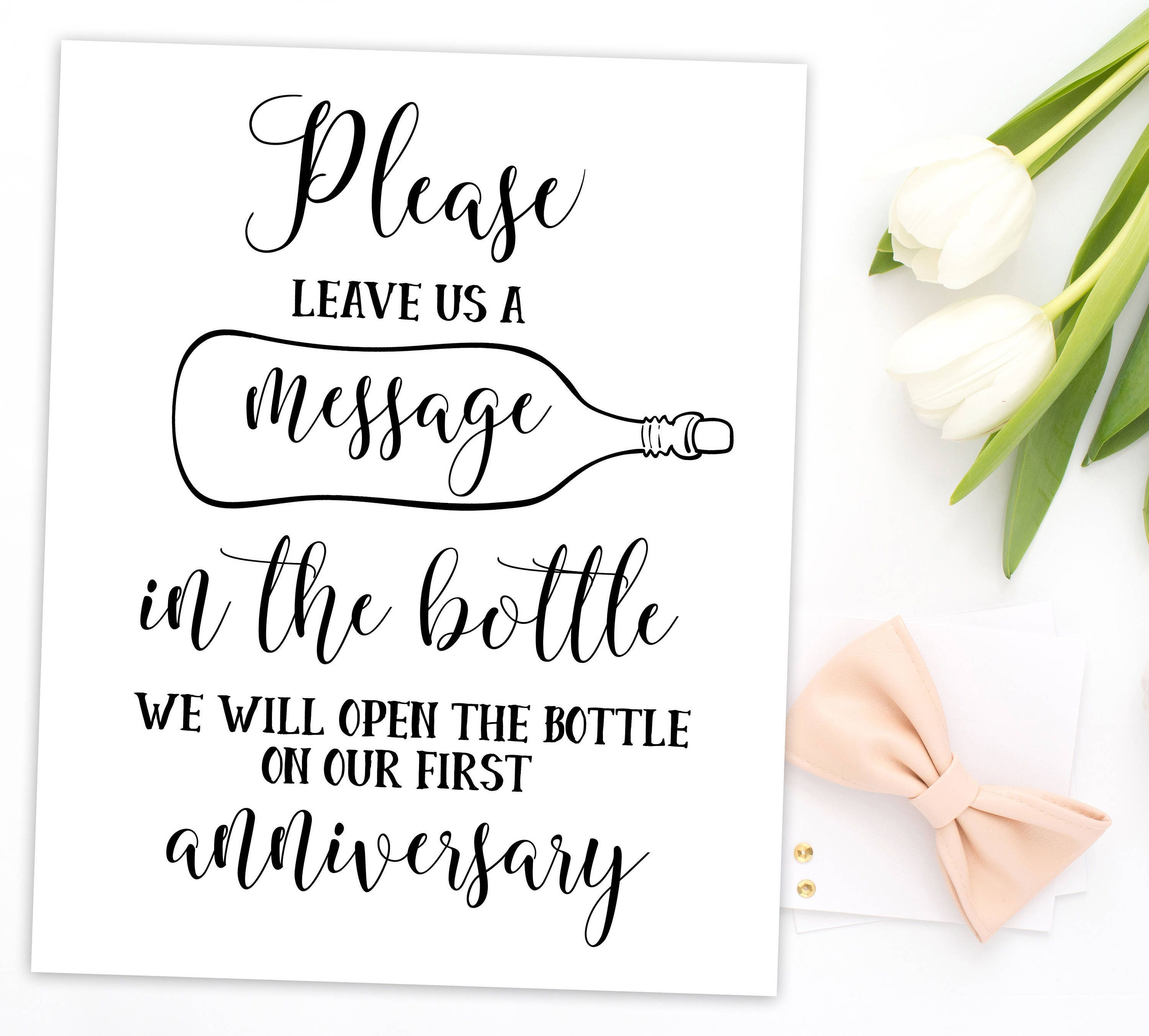 Wedding Message in a Bottle Guestbook Message in Bottle Sign Wedding ...