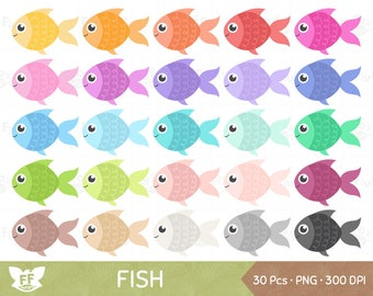 Fish Clipart, Fishes Clip Art, Fishies Aquatic Marine Cartoon Animal Pet Goldfish Cute Digital Graphic PNG Download, Commercial Use