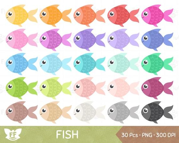 Fish Clipart Fishes Clip Art Fishies Aquatic Marine Cartoon