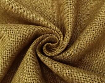 "Dark Beige Burlap Fabric, Natural Fabric, Rustic Decor, Sewing Fabric, 61"" Inch Wide Fabric By The Yard ZJC21B"
