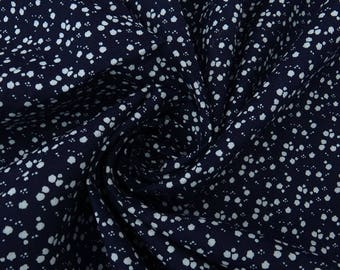"""Home Decor Fabric, Abstract Print, Navy Blue Fabric, Dressmaking Fabric, 44"""" Inch Cotton Fabric By The Yard ZBC8882A"""
