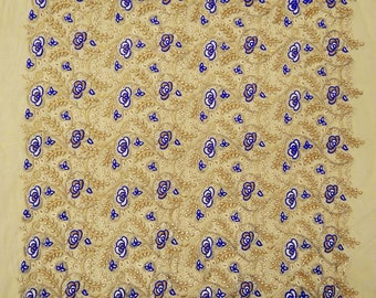 "Designer Embroidered Net Fabric, Quilt Material, Dressmaking Fabric, Sewing Crafts, 40"" Inch Fabric By The Yard ZBD107A"