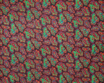 """Dressmaking Silk Chiffon Fabric, Paisley Print, Maroon Fabric, Sewing Accessories, 42"""" Inch Indian Fabric By The Yard ZS31A"""