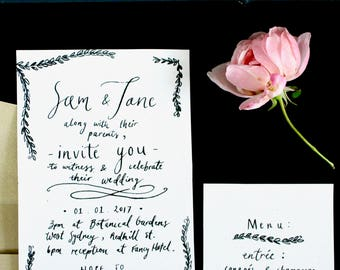 The Garden - wedding invite suite