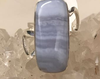 Blue Lace Agate Ring Size 8