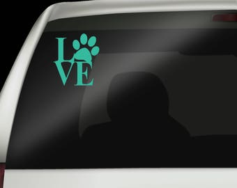 Animal Decal - Animal Lover Decal - Love Decal - Custom Car Decal - Gift for Animal Lover - Tumbler Decal - Mug Decal - Window Decal