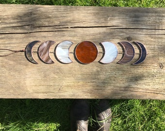 Thunder Moon • Moon Phases Mobile in Stained Glass