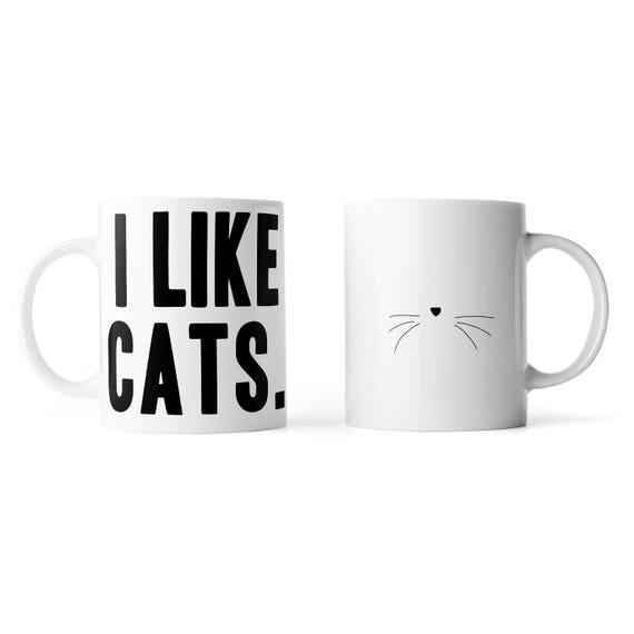 I like cats mug - Funny mug - Rude mug - Mug cup 4P043