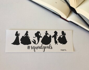 Princess #squadgoals Cardboard Bookmark //