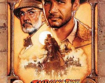 Indiana Jones and The Last Crusade Harrison Ford  Rare Vintage Poster