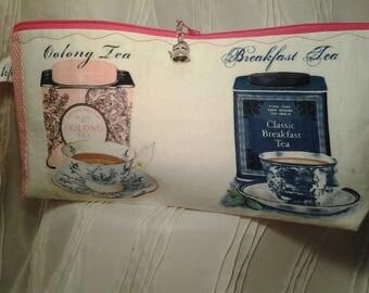 Tea  project bag, Zippered tea bag, Crochet tea bag, Tea can project bag, Zippered tea can bag