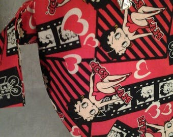 Betty Boop Project bag, Zippered project bag, Betty bag, Crochet Red Betty bag