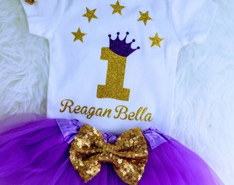 Lavender & gold 1st birthday,Twinkle little star One year old outfit 1st birthday outfit Baby girl 1st birthday princess