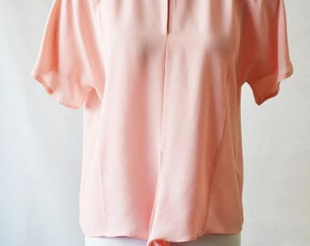 ClearanceSale45Off Vintage Pale Pink blouse Pink top Tie front top by Windsmoor Size 8