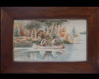 Chas Schatzlein by Charles Russell Copy 1907 Watercolor Painting