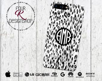 LEOPARD Monogram Cell Phone Case, iPhone 6 case, leopard phone case, iPhone 6 plus, iPhone 6 plus case, iPod leopard, SE animal print