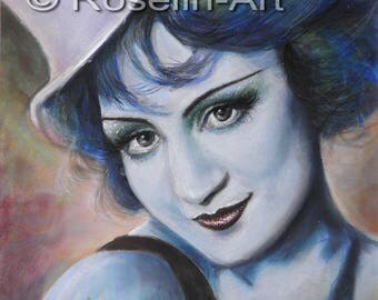 Pastel drawing. The Blue Angel (1988)