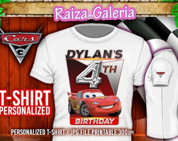 T Shirt Disney CARS 3 Birthday Personalized