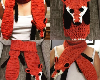Handmade Crochet Fox Scarf