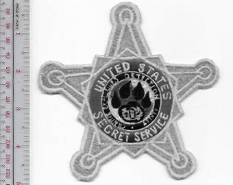 K-9 US Secret Service USSS EOD Explosive Ordnance Detection Gold Star Badge Patch