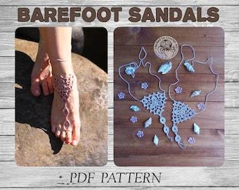 CROCHET  PATTERN Barefoot Sandals/ Crochet Pattern/ Crochet Wedding Barefoot Sandals/ Crochet Barefoot Sandals Tutorial/ Crochet Sandals