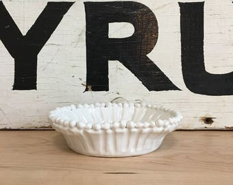 White Soap Dish | Handmade Ceramic | Modern Home |  Pottery | Grooved and Ruffled