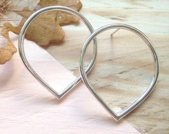 Unusual silver stud earrings | Handmade lotus petal earrings in recycled silver | Eco-friendly jewellery | Recycled packaging | Brighton UK