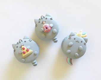 Kawaii Pusheen Macaron Polymer Clay Charm